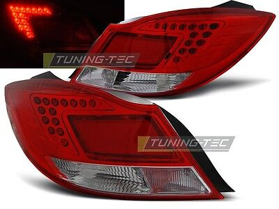 New Set Rear Tail Lights Rht Ldop28 Opel Insignia 2008- 4Doors /hb Red White Led