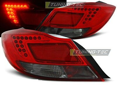 New Set Rear Tail Lights Rht Ldop29 Opel Insignia 08-12 4Doors /hb Red Smoke Led