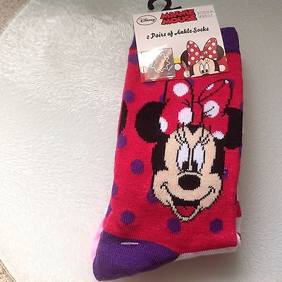 Disney Ankle Socks x  Two pairs size  12 - 2