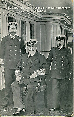 1910s Postcard His late majesty King Edward VII H M King George V heir apparant