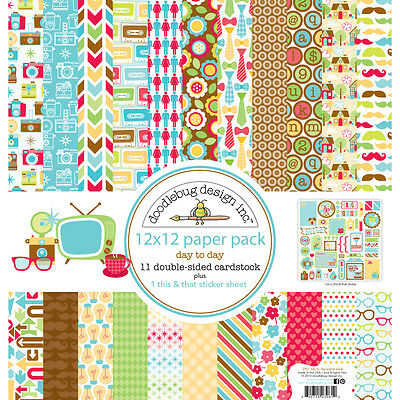 """Day To Day Paper Pack 12""""X12""""  DTD3961"""