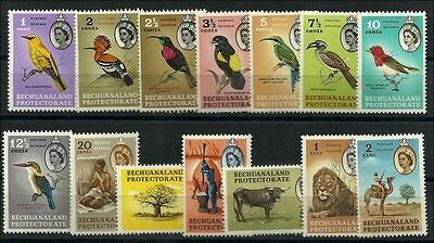 Bechuanaland  1961, QE definitives Birds,  umm nh, v.f.  Dauerserie Vögel,