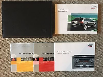 Audi A3 Sportback Owners Manual Handbook Set With Wallet 2004 - 2008