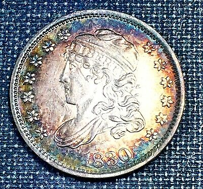 1830 Capped Bust Half Dime AU/UNC *Great Toning*