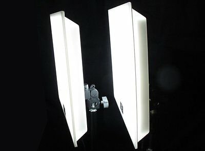 2x LARGE PANEL SUPERSOFT LED STUDIO VIDEO HIGH CONTINUOUS LIGHT camera camcorder