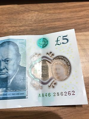 AA46 New £5 Note