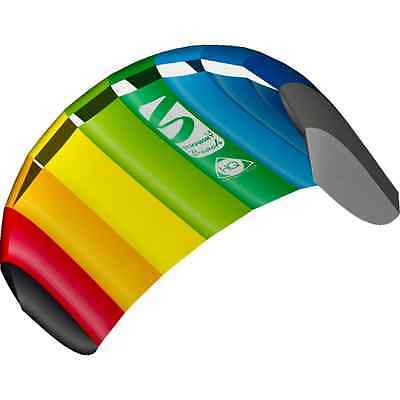 HQ Power Kite Symphony Beach III 1.3M Rainbow Ready to Fly Outdoor Package New