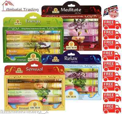 Incense Sticks Incense Joss Incense, Pack 80 - Multi Pack of 5 Fragrance Scent