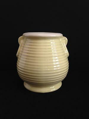 Vintage Coors Pottery Golden Colorado Ringware Vase Beehive Yellow