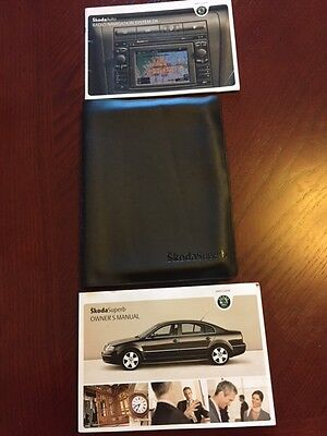 SKODA SUPERB HANDBOOK + RADIO NAVIGATION GUIDE + WALLET years 2006    2009