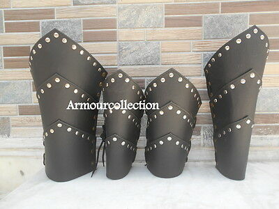 Leather Ancient Vambrace Medieval Arm Guard & Leg Guard Halloween Greek Gift