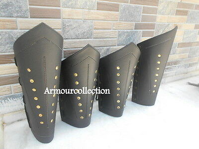 Leather Ancient Armor Vambrace Collectible Arm Guard & Leg Guard Helloween Gift