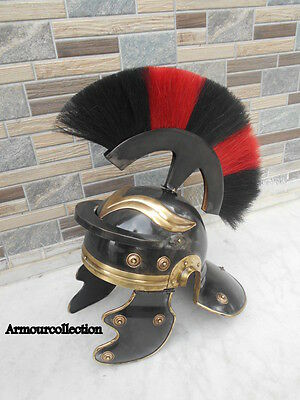Roman Imperial Centurion Historical Helmet Black Antique Finish Armor 18G Steel