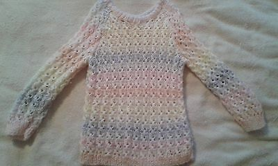 Girls, Knitted, Jumper, Multi Coloured, age 6 years