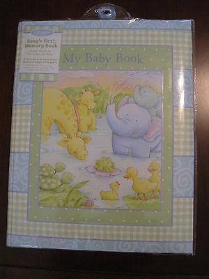New NWT CR Gibson Stepping Stones Elephant Giraffe Baby Memory First Record Book