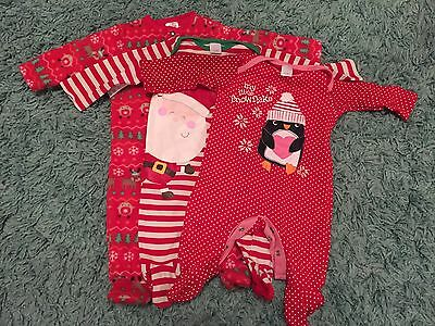 Christmas Baby Sleep Suits 0-3 months (F&F and mini club)