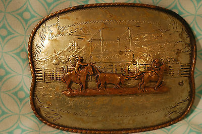 Comstock Silversmith's German Silver Belt Buckle