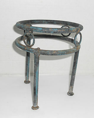 Small Vintage Rustic Shabby Metal Iron Plant Stand Holder Garden Patio