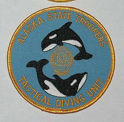 ALASKA STATE TROOPERS Tactical Diving Unit AK AST Special Unit patch