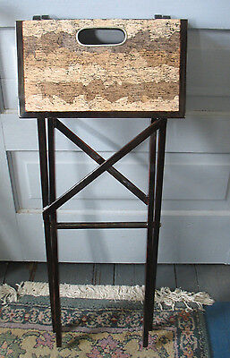 21st Century Lacquered folding table VIETNAM Tv drinks side Cork look  top