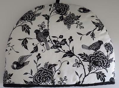 New Designs Black & White Floral & Birds Extra Thick Insulated Tea Cozy Nwot