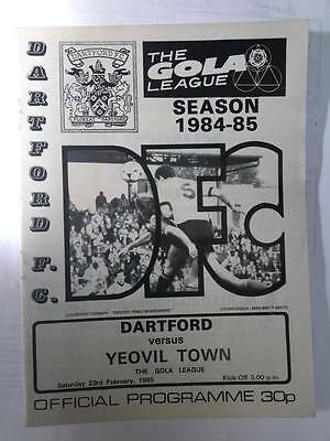 1984/85 DARTFORD v YEOVIL TOWN (GOLA LEAGUE)