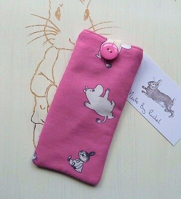Moomins Glasses Cover Pouch Case Vintage Rare Fabric Little My Moomintroll Pink