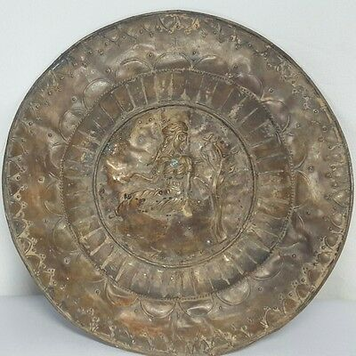 Very Rare Antique Sassanian Plate with Female Figure # C
