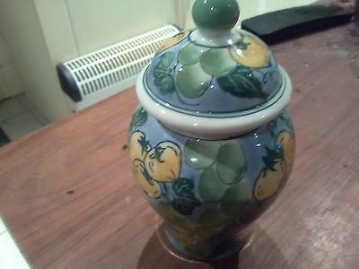 Ginger Jar, Green' S, Blue & Yellow, Ex Cond