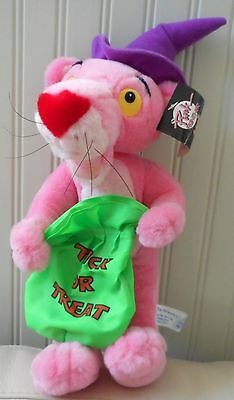 PINK PANTHER Plush Stuffed Animal HALLOWEEN 1998 NWT United Artists HAT 16""""