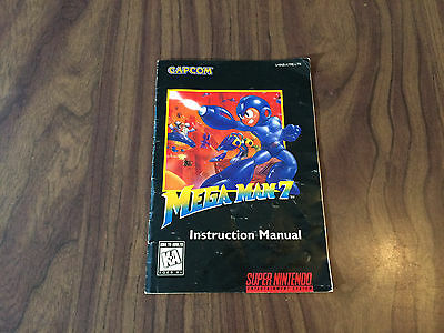 Mega Man 7 (Super Nintendo, SNES) MANUAL - POOR SHAPE