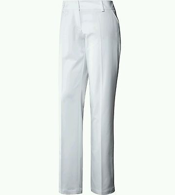 Adidas Womens Golf Trousers White Size 10 Small  Bnwt
