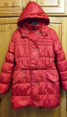 Marks and spencer red padded coat age 13 -14