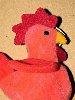 1993 Ty Original Teenie Beanie Babies Strut The Rooster Oakbrook, Il. With Tag