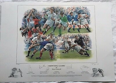 Peter Cornwell Crowning Glory Rugby Signed print 250 of 500