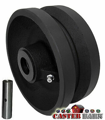 """CasterHQ 8"""" X 2"""" V Groove Wheel 1200 LBS Capacity Replacement Wheel Commercial/I"""