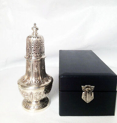 "ANTIQUE Ornate VINTAGE SILVER PLATE SUGAR CASTER MUFFINEER SHAKER POWDER 7.5"" H"