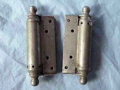 "Pair 5 1/4"" BOMMER'S ANTIQUE SALOON SPIRAL SPRING HINGES PAT 1895"