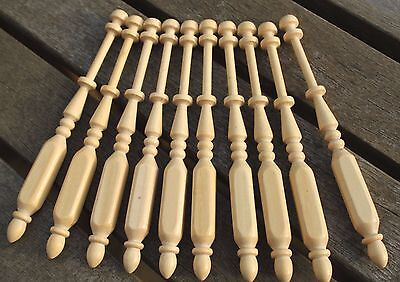 Square Lace Bobbins - ten light wood bobbins