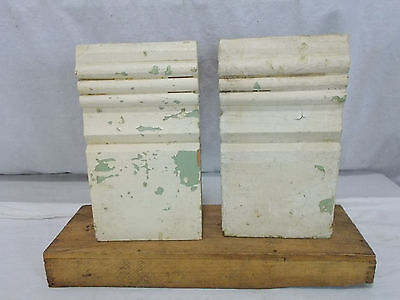 Vintage Wood Plinth Block Trim Architectural Antique Excellent Condition Salvage