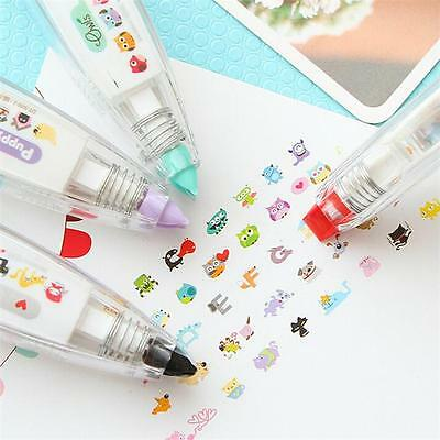 Kid Fun Kawaii Decoration Tape Pen Deco Rush Cat Dog Owl DIY School Stationery Z