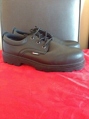 Brand New Men's Black Steel Toe Safety Shoes Size 9