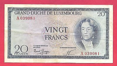 Luxembourg 1955 (ND) 20 Francs Note P-49a