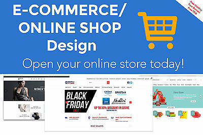 PROFESSIONAL ECOMMERCE / ONLINE SHOP DESIGN - Start your online store today!