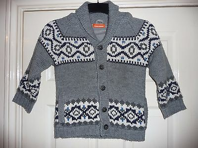 Boys Knitted Cardigan Age 7 years