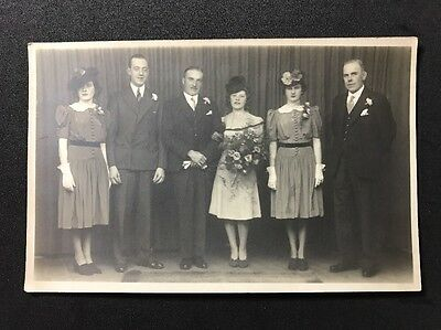 Vintage Postcard - RP Anonymous Group #133 - Wedding Group