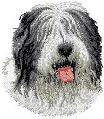 Old English Sheepdog Portrait Embroidery Patch