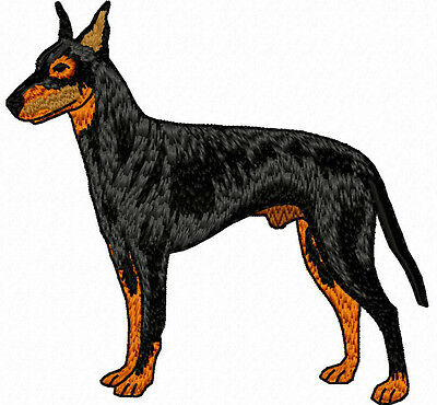 Manchester Terrier Standing Embroidery Patch