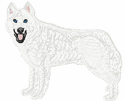 Siberian Husky white Embroidery Patch