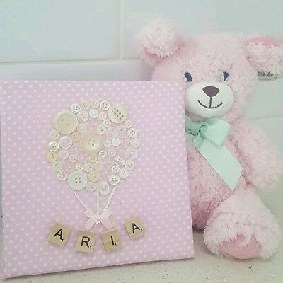 Canvas and Teddy gift set - Baby girl